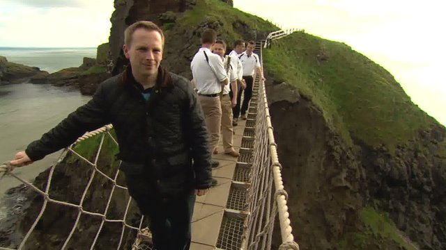 BBC reporter Chris Page on the Carrick-a-Rede