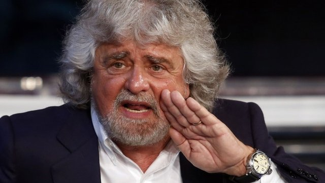 Politician and comedian Beppe Grillo