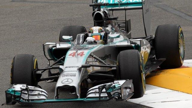 Lewis Hmailton in action in Monaco
