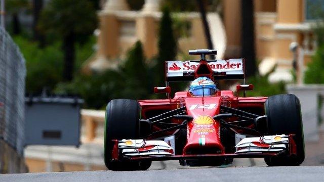 Ferrari's Fernando Alonso was fastest in second practice in Monaco
