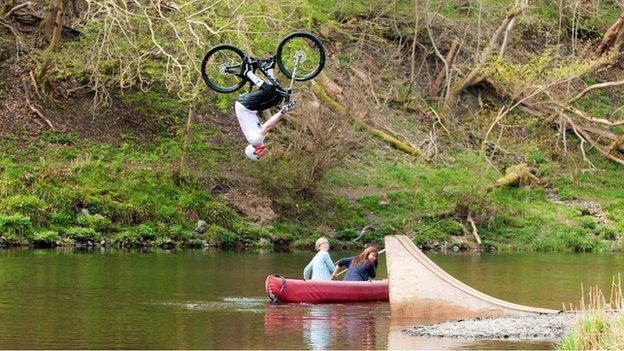 Cycling stunt