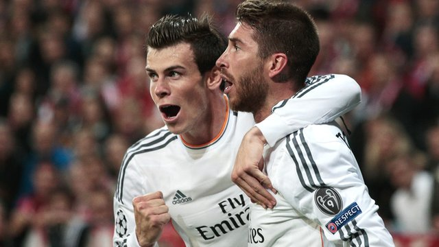 Real Madrid's Gareth Bale and Sergio Ramos will face Atletico Madrid in the Champions League final