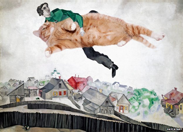 Occupy the Sky, based on Marc Chagall, Over the town