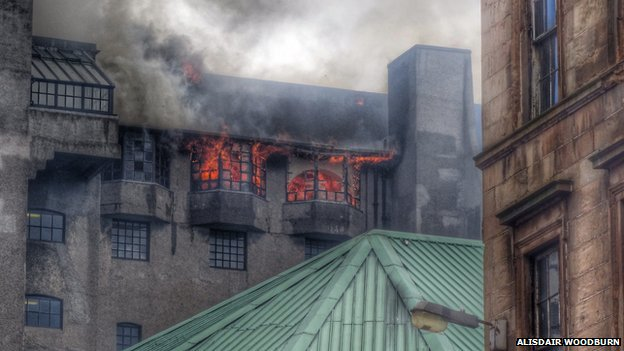 Fire at art school
