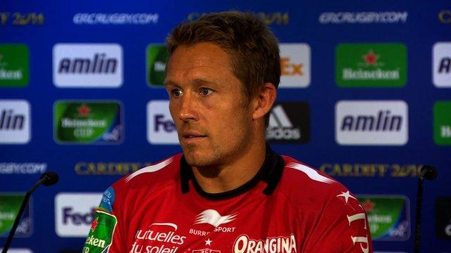 Jonny Wilkinson discusses his retirement after Heineken Cup win over Saracens