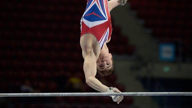 European Gymnastics: GB's Sam Oldham wins silver in the high bar