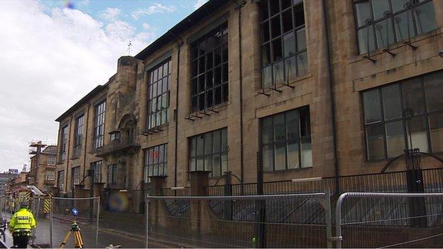 Art school after fire