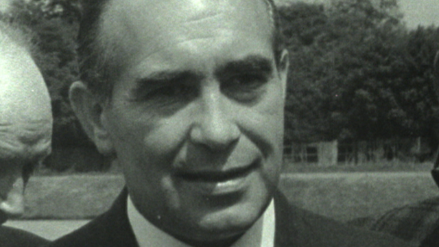 England manager Alf Ramsey looks ahead to the 1966 World Cup Final.