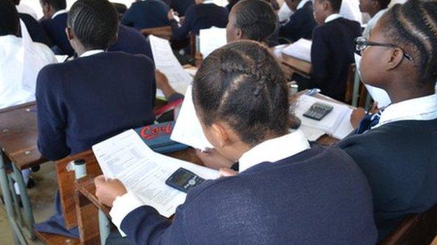 Learners at Intshisekelo High School in Durban