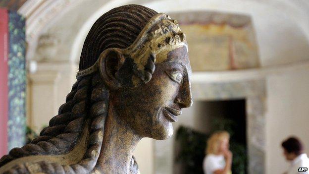 Etruscan statue