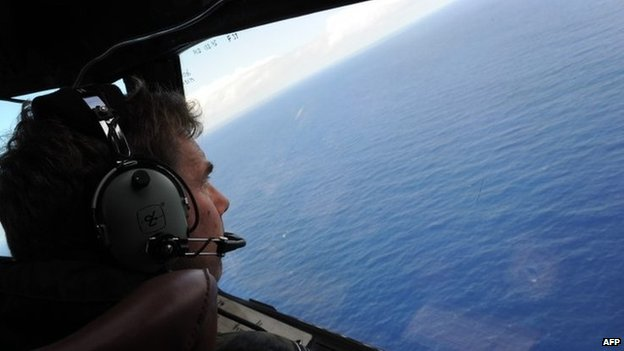 Search for Malaysia Airlines plane. Photo: April 2014