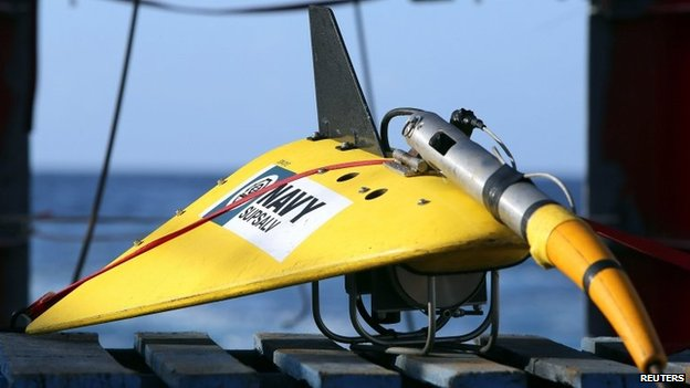 """File image of the towed pinger locator used to listen out for """"black box"""" flight recorders"""