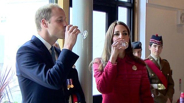 William and Catherine taste whisky