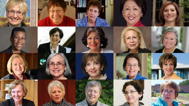 The 20 women presidents who were leading their school at the time of the anonymous donation
