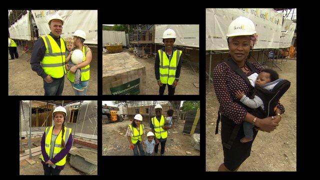 Housing association tenants build their own homes