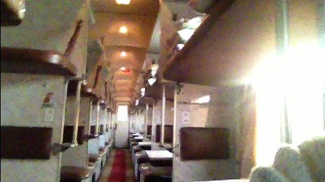 Empty train carriage