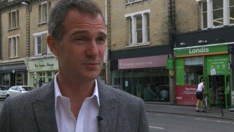 Labour candidate Peter Kyle outside the Londis shop where Bondfield used to work as a draper's apprentice