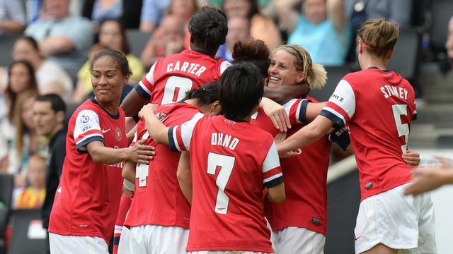 Arsenal beat Everton to win Women's FA Cup