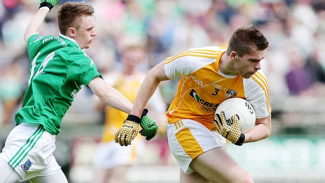 Action from Fermanagh against Antrim at Brewster Park