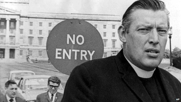 Ian Paisley outside Stormont in 1969