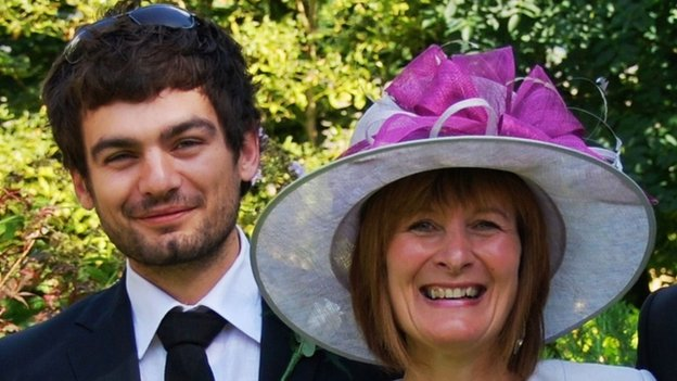 Janet Southwell with her son Gareth Huntley