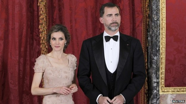 Princess Letizia and her husband Prince Felipe, 2013 image