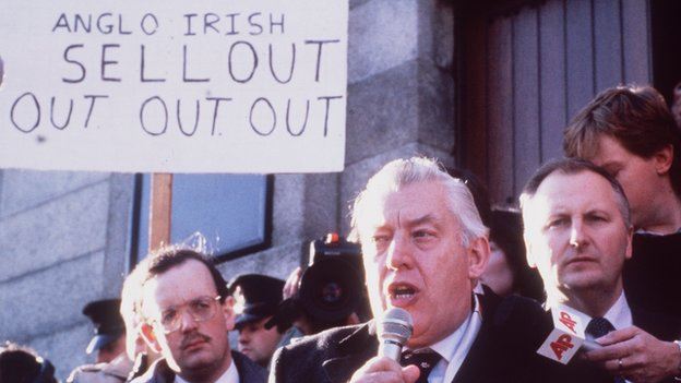 Ian Paisley at Anglo-Irish Agreement protest