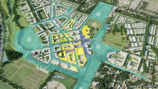North West Cambridge phase one plan
