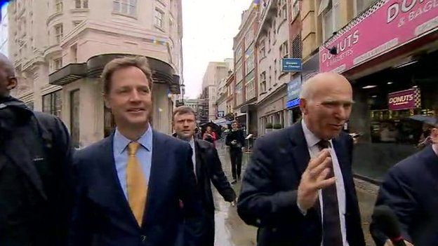 Nick Clegg, left, and Vince Cable