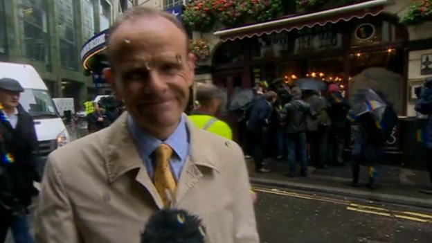 Norman Smith outside the central London pub