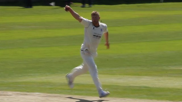 Andrew Flintoff's amazing caught and bowled wicket