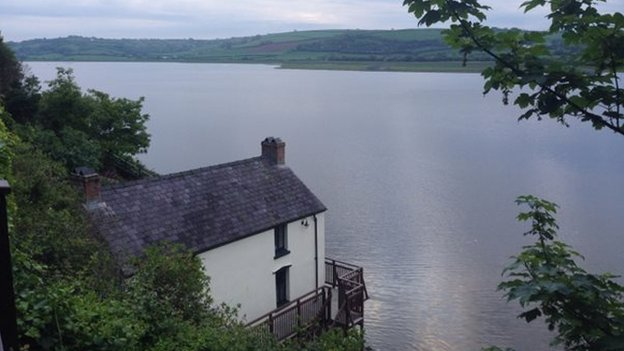 View from Dylan Thomas' boathouse
