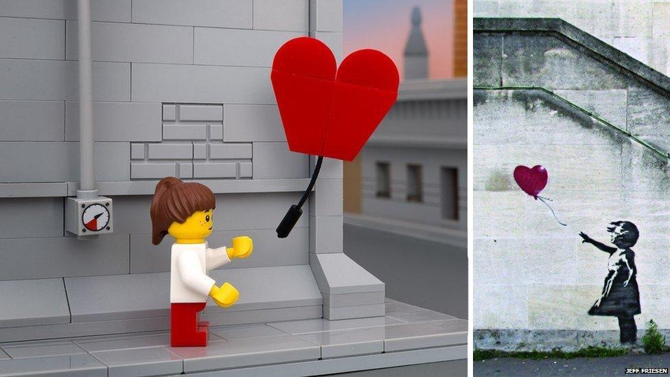 Balloon girl - Lego and real