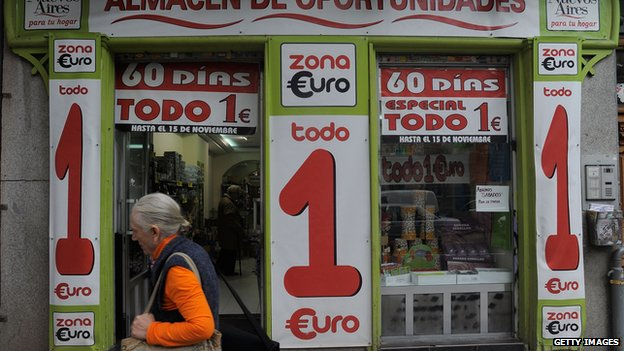 Spanish shop selling everything for a euro