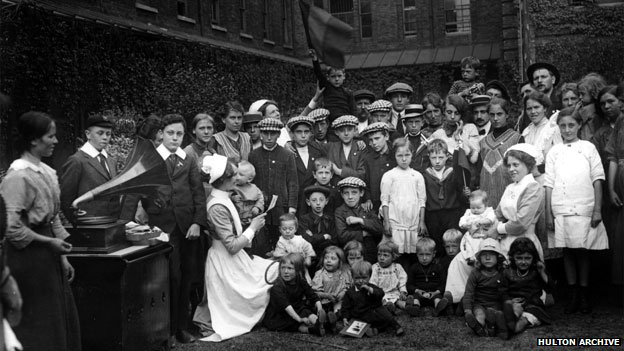 These Belgian refugees were at a workhouse in London in 1914