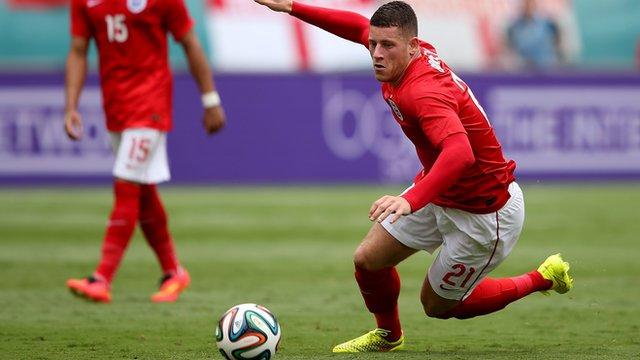 England manager Roy Hodgson says midfielder Ross Barkley 'hopes to be main man'