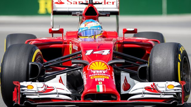 Fernando Alonso sets the pace in first practice for the Canadian Grand Prix