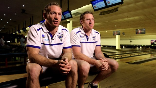 Warrington Wolves brothers Michael and Joel Monaghan