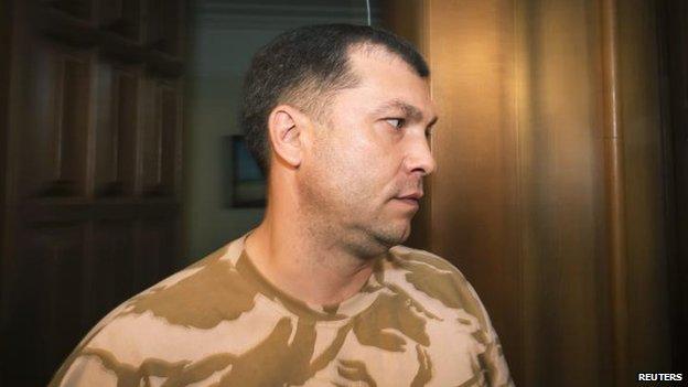 Insurgency leader Valery Bolotov, 7 June