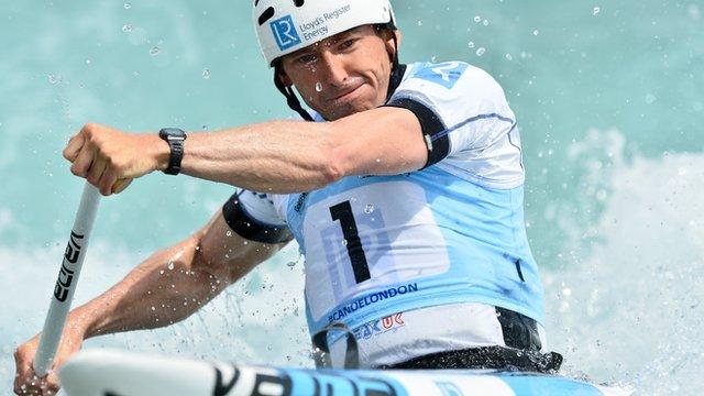 C1 Canoeist David Florence wins on Lee Valley return
