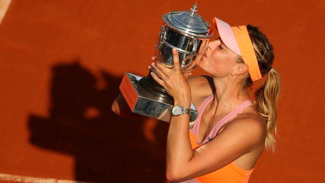 2014 Women's French Open winner Maria Sharapova