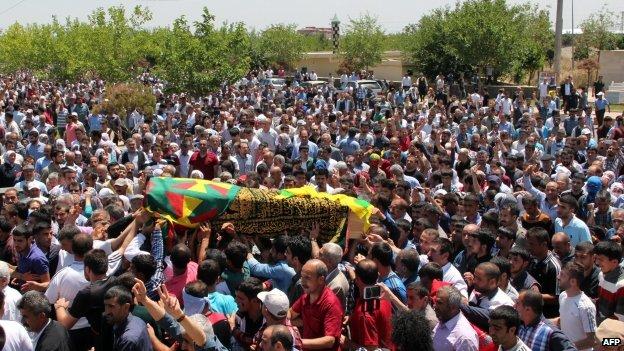 Funeral of demonstrator