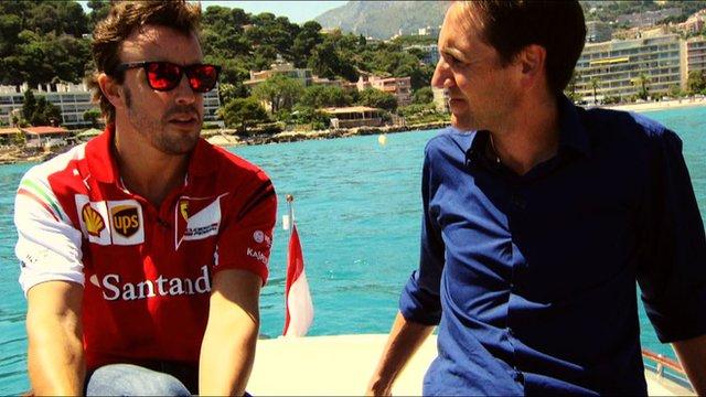 Fernando Alonso and Tom Clarkson