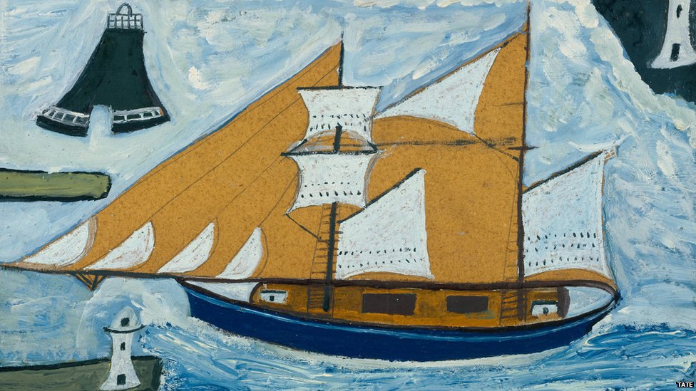 The Blue Ship c.1934 by Alfred Wallis