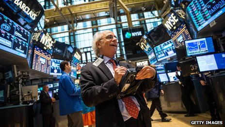 A trader on a stock market floor