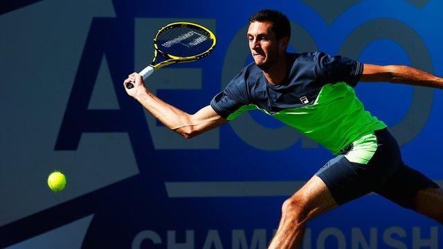 British tennis player James Ward