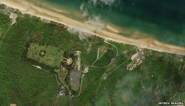 Satellite image of Omaha beach