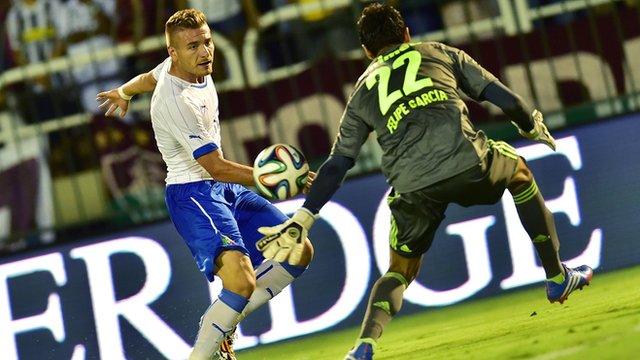 Ciro Immobile scores for Italy