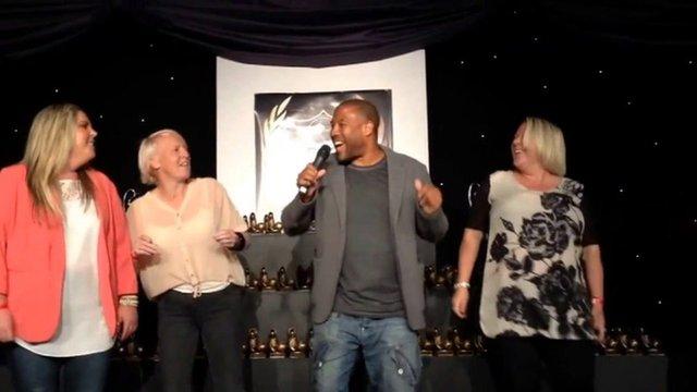 John Barnes performing the World in Motion rap