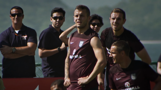 England players in training in Rio